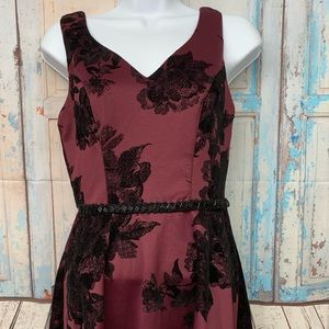 Maurice's High Low Burgundy & Black Dress sz S